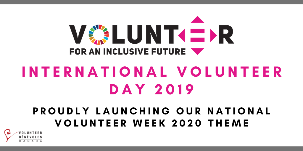 International Volunteer Day 2019: Proudly Launching our National Volunteer Week 2020 Theme